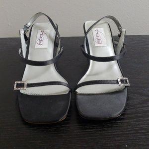 Vintage Women's Embellished Chunky Sandal Heels